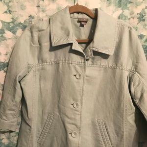 Mint green Linen blend jacket